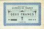 Banknoten Isbergues (62). Société Anonyme des Aciéries de France. Billet. 2 francs 1.1.1916, série 1