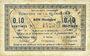 Banknoten La Flamengrie (02). Commune. Billet. 0,10 centimes 16.9.1915