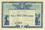 Banknoten La Roche-sur-Yon (85). Chambre de Commerce. Billet. 25 centimes 1916, série A