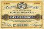 Banknoten Lannoy (59). Ville. Billet. 50 centimes, 3e série