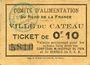 Banknoten Le Cateau (59). Comité d'Alimentation. Billet. 10 cent