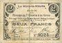 Banknoten Le Hérie-la-Viéville (02). Commune. Billet. S.Q.G., 2 francs 27.10.1917