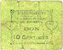 Banknoten Le Quesnoy (59). Ville et Etablissements Charitables. Billet. 10 centimes septembre 1915