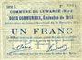 Banknoten Lewarde (59). Commune. Billet. 1 franc 24.11.1914, série E