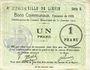 Banknoten Liévin (62). Ville. Billet. 1 franc 31.1.1915, série D
