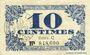 Banknoten Lille (59). Ville. Billet. 10 cmes 31.10.1917, série C