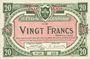 Banknoten Lille (59). Ville. Billet. 20 francs 11.4.1917