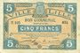 Banknoten Lille (59). Ville. Billet. 5 francs 13.7.1917, série T
