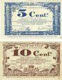Banknoten Lille (59). Ville. Billets. 5 cmes, 10 cmes 31.10.1917, série C