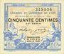 Banknoten Lyon (69). Chambre de Commerce. Billet. 50 centimes 29.7.1920, 24e série