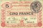 Banknoten Marchiennes (59). Ville. Billet. 5 francs 24.10.1915, série 1