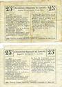 Banknoten Montigny-en-Arrouaise (02). Commune. Billet. B.R.U., 25 cmes (2ex) cachet bleu et violet