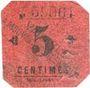 Banknoten Mouvaux (59). Ville. Billet. 5 centimes, rouge, cachet sur 2 lignes