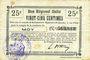Banknoten Moy (02). Commune. Billet. B.R.U., 25 centimes