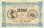 Banknoten Mulhouse (68). Ville. Billet 1 franc 18.12.1918. Série B