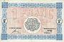 Banknoten Mulhouse (68). Ville. Billet 1 franc 18.12.1918. Série F