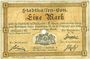 Banknoten Mulhouse (68). Ville. Billet 1 mark 10.9.1914. Annulé par perforation