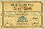 Banknoten Mulhouse (68). Ville. Billet 1 mark 10.9.1914. Non annulé
