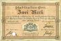 Banknoten Mulhouse (68). Ville. Billet 2 mark 10.9.1914. Annulé par perforation