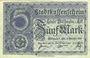 Banknoten Mulhouse (68). Ville. Billet 5 mark 15.10.1918. Non annulé