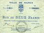 Banknoten Nancy (54). Ville. Billet. 2 francs 2 août 1914, série 1
