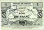 Banknoten Neuville-en-Avesnais (59). Pour les Maires des Communes adhérentes. Billet. 1 franc, série 8