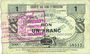 Banknoten Neuvilly (59). Société des Bons d'Emission. Billet. 1 franc, série 1