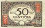 Banknoten Nice (06). Chambre de Commerce. Billet. 50 centimes 25.4.1917, série 112