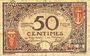 Banknoten Nice (06). Chambre de Commerce. Billet. 50 centimes 25.4.1917, série 57