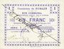 Banknoten Nomain (59). Commune. Billet. 1 franc 27.12.1914, série I