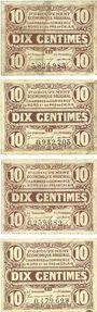 Banknoten Nord (59) et Pas-de-Calais (62). 1er groupement régional. Billets. 10 centimes (4ex)