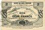 Banknoten Obies (59). Société des Bons d'Emission. Billet. 2 francs, série 3