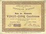 Banknoten Ohain (59). Commune. Billet. 25 centimes 26.1.1915
