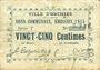 Banknoten Orchies (02). Ville. Billet. 25 centimes émission 1915, série T