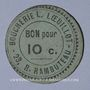 Banknoten Paris (75). Boucherie L. Loeuillot (23 rue Rambuteau). Billet. Bon pour 10 centimes