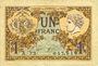 Banknoten Paris (75). Chambre de Commerce. Billet. 1 franc 10.3.1920, série A.72