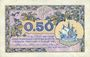 Banknoten Paris (75). Chambre de Commerce. Billet. 50 centimes 10.3.1920, série A.29