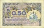 Banknoten Paris (75). Chambre de Commerce. Billet. 50 centimes 10.3.1920, série A.30
