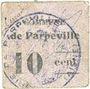 Banknoten Parpeville (02). Commune. Billet. 10 centimes