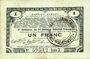 Banknoten Pas de Calais, Somme et Nord, Groupement de 70 communes. Billet. 1 franc 23.4.1915 série 2