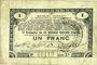 Banknoten Pas de Calais, Somme et Nord, Groupement de 70 communes. Billet. 1 franc 23.4.1915 série 2S
