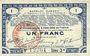Banknoten Pas de Calais, Somme et Nord, Groupement de 70 communes. Billet. 1 franc 23.4.1915 série 3A
