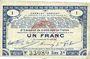 Banknoten Pas de Calais, Somme et Nord, Groupement de 70 communes. Billet. 1 franc 23.4.1915 série 3B