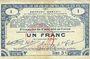 Banknoten Pas de Calais, Somme et Nord, Groupement de 70 communes. Billet. 1 franc 23.4.1915 série 3C
