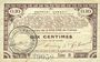 Banknoten Pas de Calais, Somme et Nord, Groupement de 70 communes. Billet. 10 centimes 23.4.1915 série 9