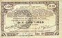Banknoten Pas de Calais, Somme et Nord, Groupement de 70 communes. Billet. 10 centimes 23.4.1915 série 9B