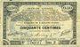 Banknoten Pas de Calais, Somme et Nord, Groupement de 70 communes. Billet. 50 centimes 23.4.1915 série 2