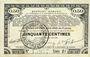 Banknoten Pas de Calais, Somme et Nord, Groupement de 70 communes. Billet. 50 centimes 23.4.1915 série 2E
