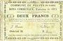 Banknoten Pelves (62). Commune. Billet. 2 francs 1.3.1915