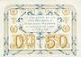 Banknoten Pontoise (78). Union du Commerce et de l'Industrie. Billet. 50 centimes, série C. 7